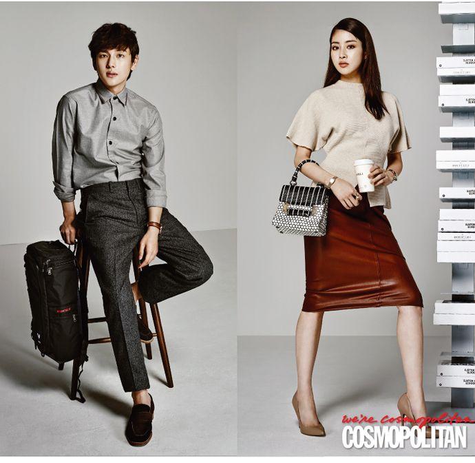 Kang Ha Neul, Kang So Ra, ZE:A's Im Siwan, & Lee Sung Min for Cosmopolitan Korea  October 2014 Photographed by Zo Sun Hi