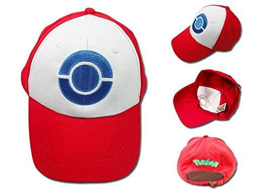 Anime Cospaly Hat Pokemon ASH KETCHUM Visor Cap Costume Play Baseball Hat  One size fits most adults & kids with adjustable band at the back  Measurement: Approx. 22inch circumference  Material: Cotton  Package includes: 1pcs cap  Weight: 0.1kg/pcs