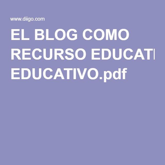 EL BLOG COMO RECURSO EDUCATIVO.pdf