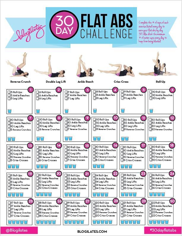 Get toned abs in just 30 Days with this Abs Challenge! Do the moves listed ll lose any muffin top by the end of this Challenge. Also stay hydrates to keep from being bloated. Repin if you&
