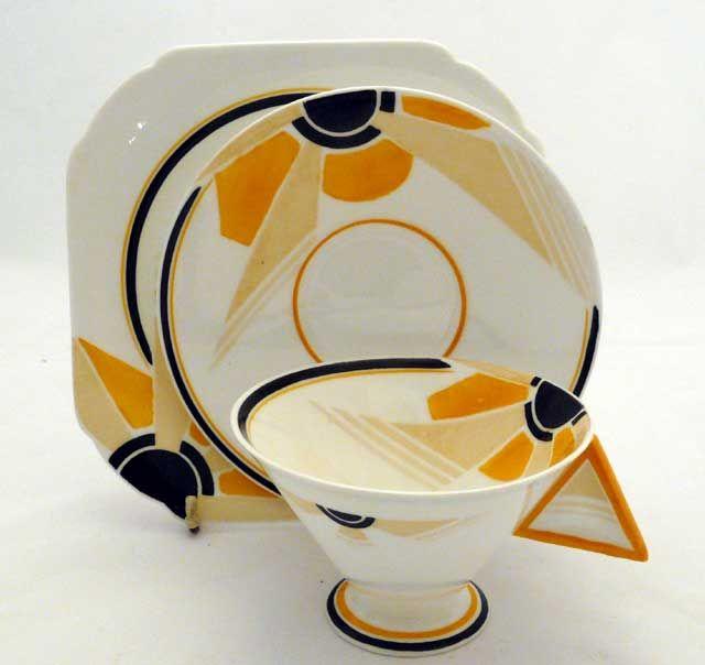 Art Deco Shelley Pottery Vogue Pattern Trio c. 1920 & 79 best Shelley China Art Deco images on Pinterest | Tea pots High ...