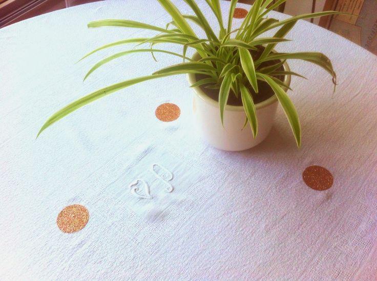 DIY Nappe à paillettes - Tout se crée, rien ne se perd