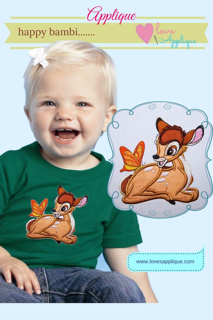 Bambi Applique Designs. Bambi Embroidery Designs. Disney Applique. Bambi Party Ideas. Bambi Outfits. www.lovesapplique.com