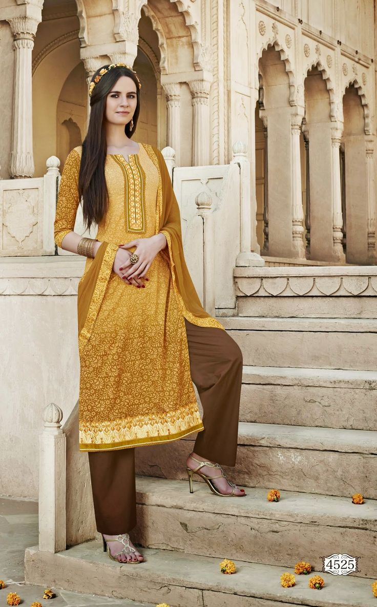Being a reputed manufacturer and Supplier in the clothing production, we are offering the best quality Floral Designer semi stitch salwar kameez for women. The offered suit is designed by our highly skilled experts by magnificent latest manufacture techniques and fine stitching methods, which make its unyielding against tear.