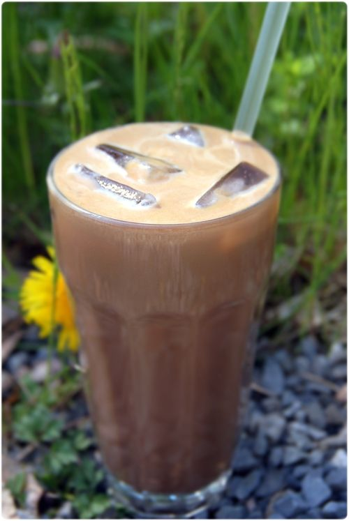 Healthy ice coffee.  Sunn iskaffe.