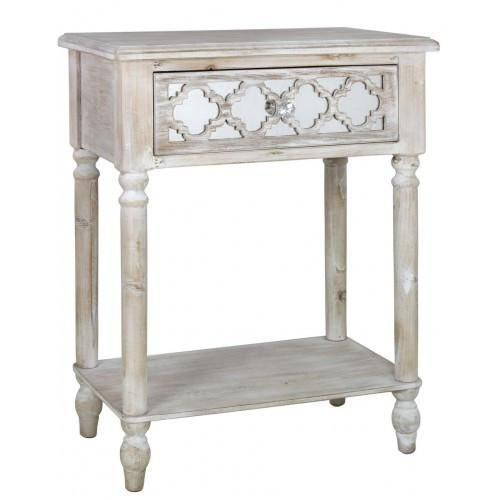 Hamlin Beach Wooden Mirrored 1 Drawer End Table