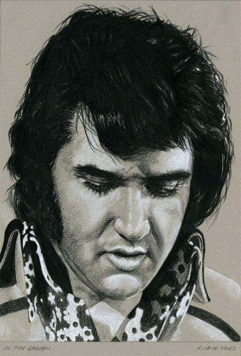 My Elvis Drawing For Week 3 In Charcoal 92 The Garden