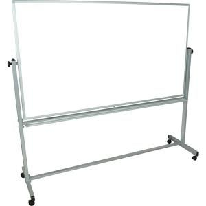 "Mobile Reversible Magnetic Whiteboard/Chalkboard - 3'4""H x 6'W"