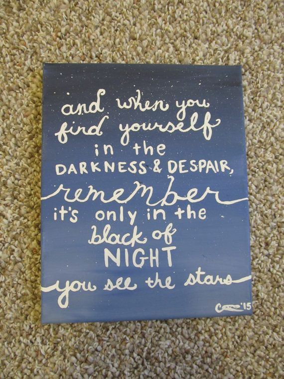 One Tree Hill Quote Painting by PeopleAreCrazy on Etsy