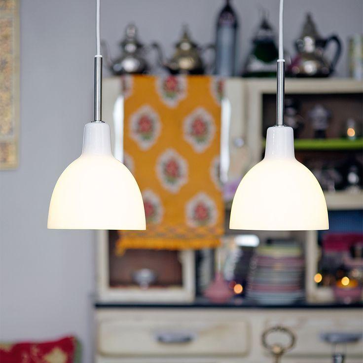 Toldbold pendant Ceiling Light Ø220 48W QT , White, Louis Poulsen