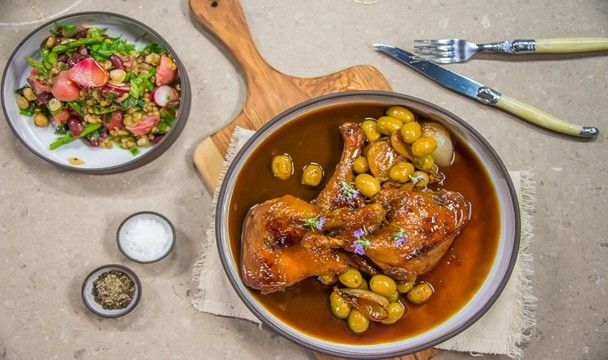 Braised Duck ala Reuben Riffel : Food : The Home Channel