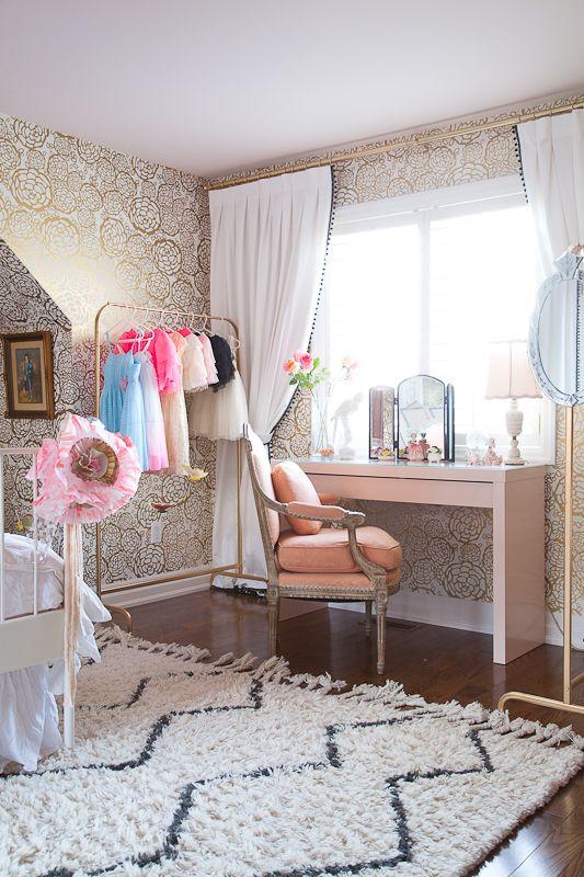 Christine Dovey Pine Girls Room 2 Painted Ikea Desk