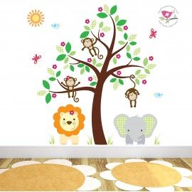 Find This Pin And More On Jungle Animal Nursery Wall Sticker   Decal Scenes  By EnchantedInteri.