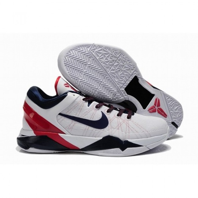 Cheapest Collection Nike Zoom Kobe VII Men 2012 Olimpic Basketball Shoes  White/Blue/Red