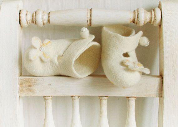 Organic eco friendly baby girls ivory christening by FeltStream, $37.90