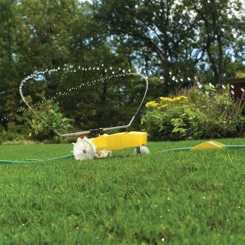 Traveling Sprinkler Tractor Lawn Watering Yard Water Rain Walking Automatic Auto #Nelson