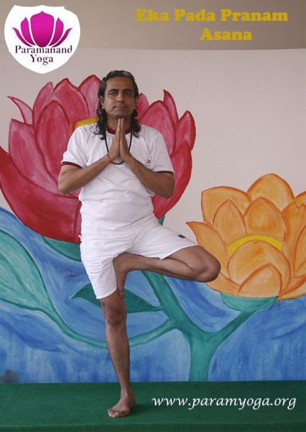 Eka Pada Pranamasana: Eka –Pada in Sanskrit means one-leg. So in this Asana one has to stand on single leg. This comes under balancing Asana. For understanding different #Yoga and #Mudras under the #Guidance of #Gur ji visit us at our #Indore #Ashram. Contact us at www.paramyoga.org