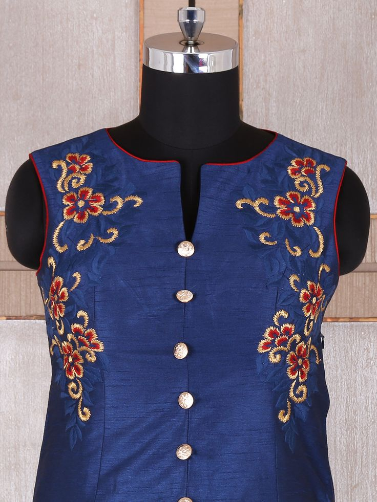 Shop Blue and maroon silk salwar suit online from G3fashion India. Brand - G3, Product code - G3-WSS21996, Price - 8845, Color - Blue, Fabric - Silk,