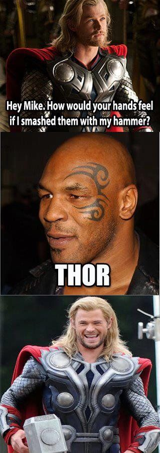 Ahahahahaha! Tears of laughter: Chris Hemsworth, Random Funny, Mike Tyson, Funny Captions, Funny Pictures, Giggl, Funny Stuff, So Funny