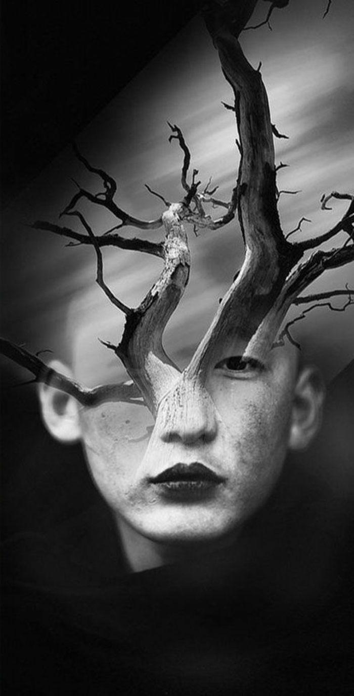 1001 Idees Pour Un Portrait Noir Et Blanc Des Images De Vie Eloquentes Portrait Noir Et Blanc Photographie De Surrealisme Noir Et Blanc