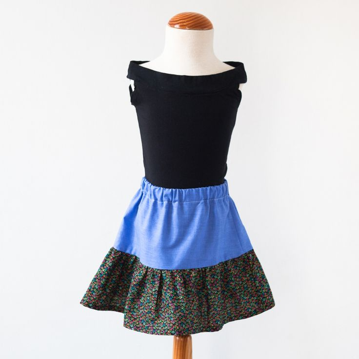 Super cute skirt. Handmade in Spain by artisan Remolona. Boho, bohemian, kids, clothing, skirt, hipster, daily, adorable, kid's gift, must have, girl