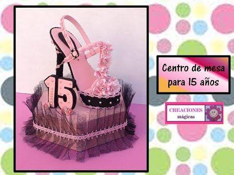 ♥♥ Centro de mesa  para 15 años♥♥creaciones mágicas♥♥
