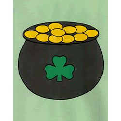 St. Patrick's Day craft for kids - pot of gold. color, cut out, and glue