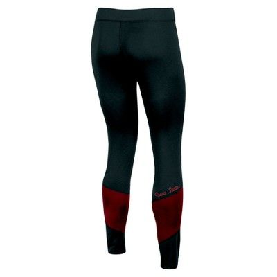 NCAA Women's Colorblock Poly-Spandex Fashion Leggings Pants Iowa State Cyclones - XL, Multicolored