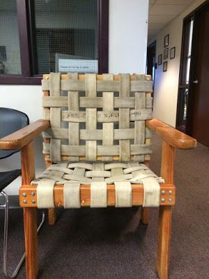 ECOMANIA BLOG outdoor chair made from old fire hose