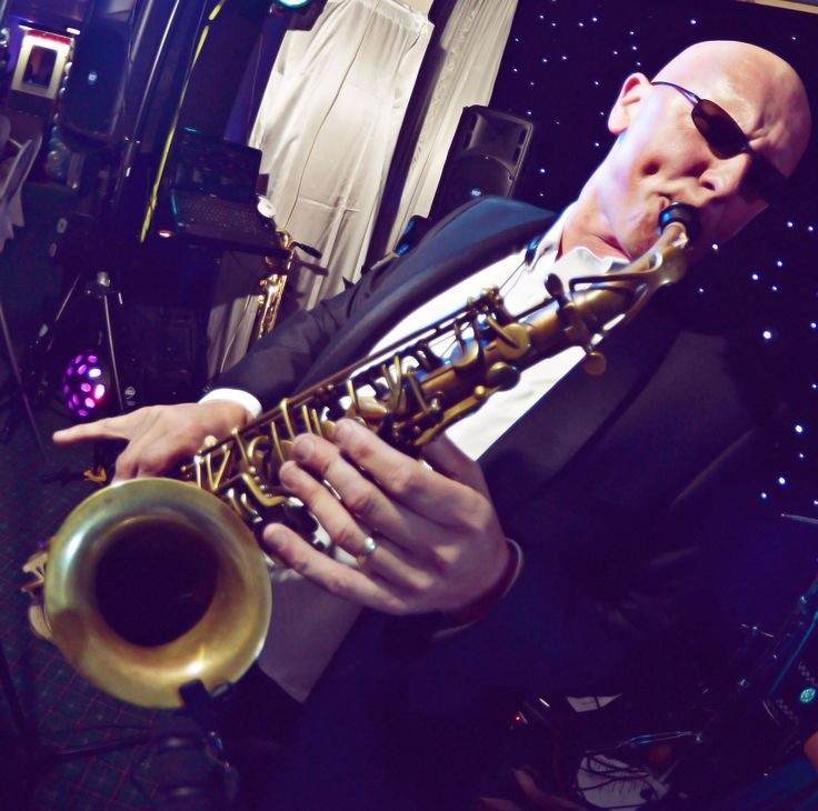Steve Bone saxophonist with Jump The Q. Live music for weddings in the North East & North Yorkshire by Jump The Q. www.jumptheq.info