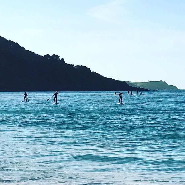 I have just checked the weather forecast for the next 24 hours it doesn't look good. Rain rain  followed by a lot more rain so here's a #tbt to a Thursday just two weeks ago on a beautifully balmy evening paddle boarding out of Carbis Bay. I'm crossing everything that we haven't seen the last of the sun!! #paddleboarding #wildcornwall #theocean #distractionsandinspirations #westcornwall #carbisbay #adventureisoutthere #sea #momentsofmine #theslowlife #SUP #paddleboard