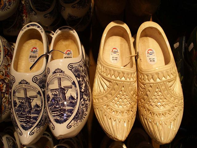 i have the dutch wedding shoes on the right in this picture.  so neat!  watched them be carved at a little shop in holland.