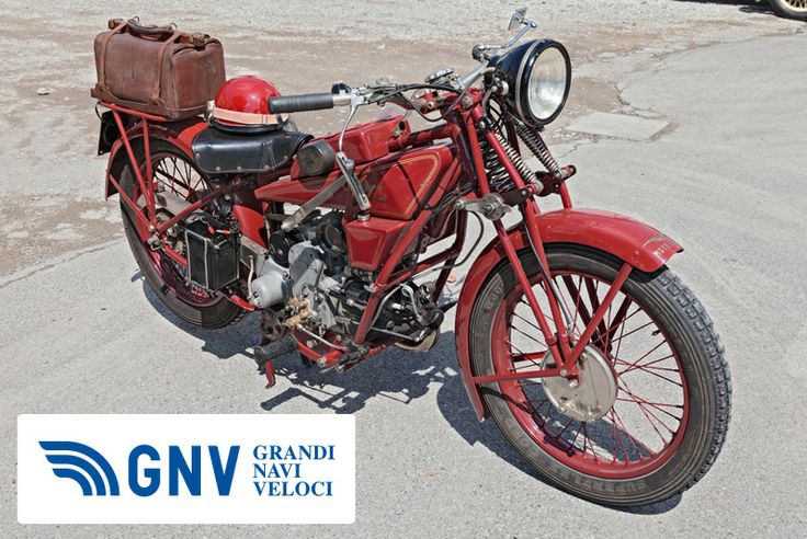 """An old #italian #motorcycle #MotoGuzzi Sport14 (1930) at #rally """"#motoraduno d'epoca #SanPatrizio 2013"""" near #Ravenna.    Discover #GNV routes from/to #Italy in our website: http://www.gnv.it/en/"""