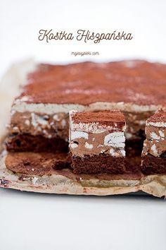 chocOlate coffee cream cake with meringue