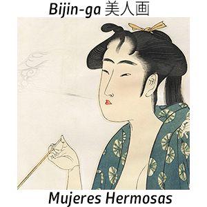 Tokaido Grabados japoneses antiguos: Bijin-ga 美人画  Mujeres hermosas en el grabado de ja...
