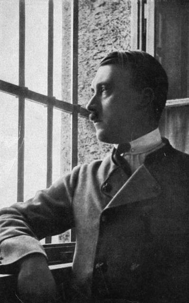 Adolf in jail. :) The only photo of Hitler worth posting since they don't have one with a bullet thru his head. On November 8, 1923, ten years before coming into power, he tried to start a national revolution. Three days later after a short trial he was sentenced to 5 years in jail at Landsberg prison, in which he served 264 days. During that time he wrote his book Mein Kampf.