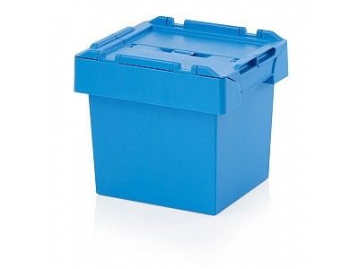 24 Litre Stack - Nest Attached Lid Container - Lidded Plastic Storage Box