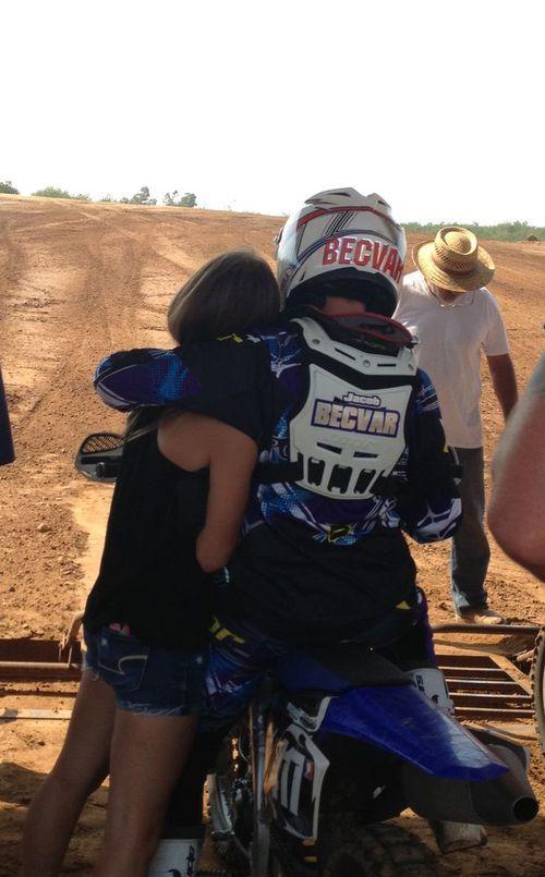 couple, motocross, and rider Bild