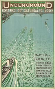 The Boat Race London Underground poster - 1912