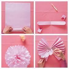 como hacer flores de papel crepe faciles - Buscar con Google