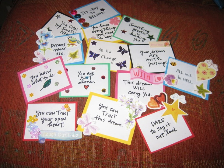 made affirmation cards