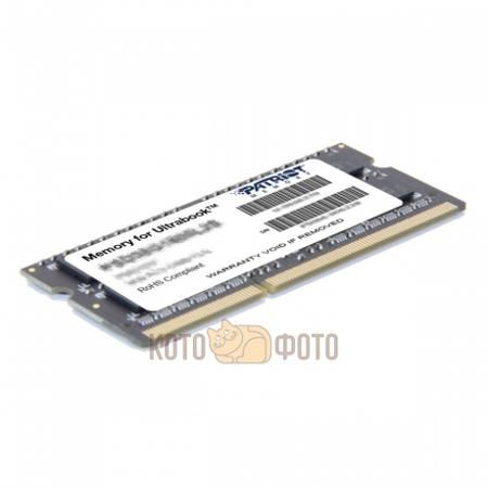 "Память оперативная DDR3 PATRIOT 4Gb 1600MHz (PSD34G1600)  — 1500 руб. —  Память оперативная DDR3 PATRIOT 4Gb 1600MHz (PSD34G1600). Оперативная память (RAM Module) — 4 GB Memory Size — DDR3 SDRAM Memory Technology — 1600 MHz Memory Speed — 204-pin Pins — DDR3-1600/PC3-12800 — SoDIMM Form Factor — Non-ECC Error Checking — Unbuffered Signal Processing — 2.7"" Length — CL11 CAS Latency — 1.4 V Memory Voltage."