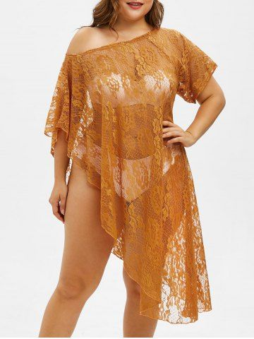 b4e27c22f764c Pin by Miranda Miler on ROSEGAL SWIMSUIT in 2019 | Cover up, Plus size, Lace