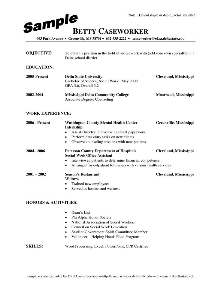 17 best ideas about example of resume on pinterest