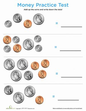Review money topics with this nifty practice quiz covering counting coins to solving word problems.