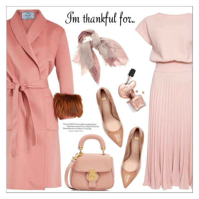 """I'm Thankful For..."" by amchavesj-1 ❤ liked on Polyvore featuring Prada, Burberry, Faliero Sarti and thanksgiving"
