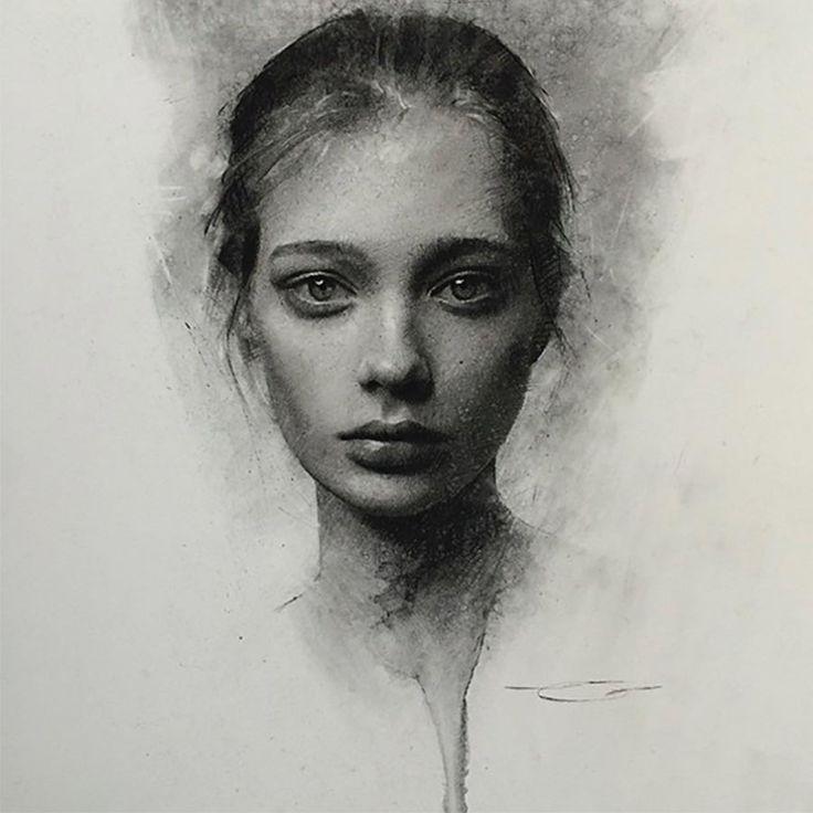 Zeichnungen: Casey Baugh – Portraits aus Holzkohle