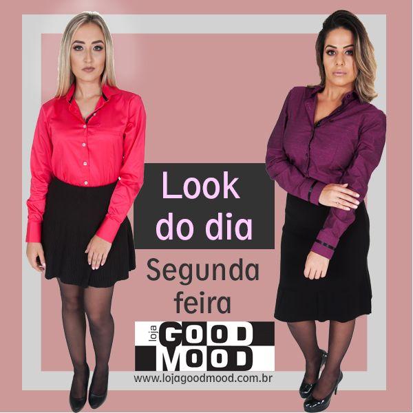 A segunda-feira está aí! Você já escolheu o look para começar a semana com tudo? Escolhe aí, qual é o seu queridinho?  CAMISA FEMININA ROSA BRILHANTE - https://www.lojagoodmood.com.br/…/camisa-feminina-rosa-br…/…  SAIA FEMININA CURTA COM NERVURAS PRETA - https://www.lojagoodmood.com.br/…/saia-feminina-curta-com…/…  CAMISA FEMININA ROXA - https://www.lojagoodmood.com.br/…/ca…/camisa-feminina-roxa/…  SAIA FEMININA COMPRIDA COM PREGAS PRETA…