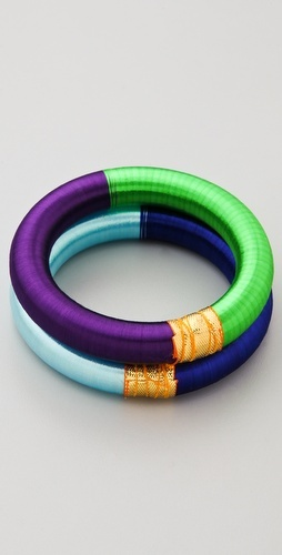 #DIY embroidery thread wrapped bangles. Orig Price $50.00. Keep Calm & Do It Yourself Instead! :)