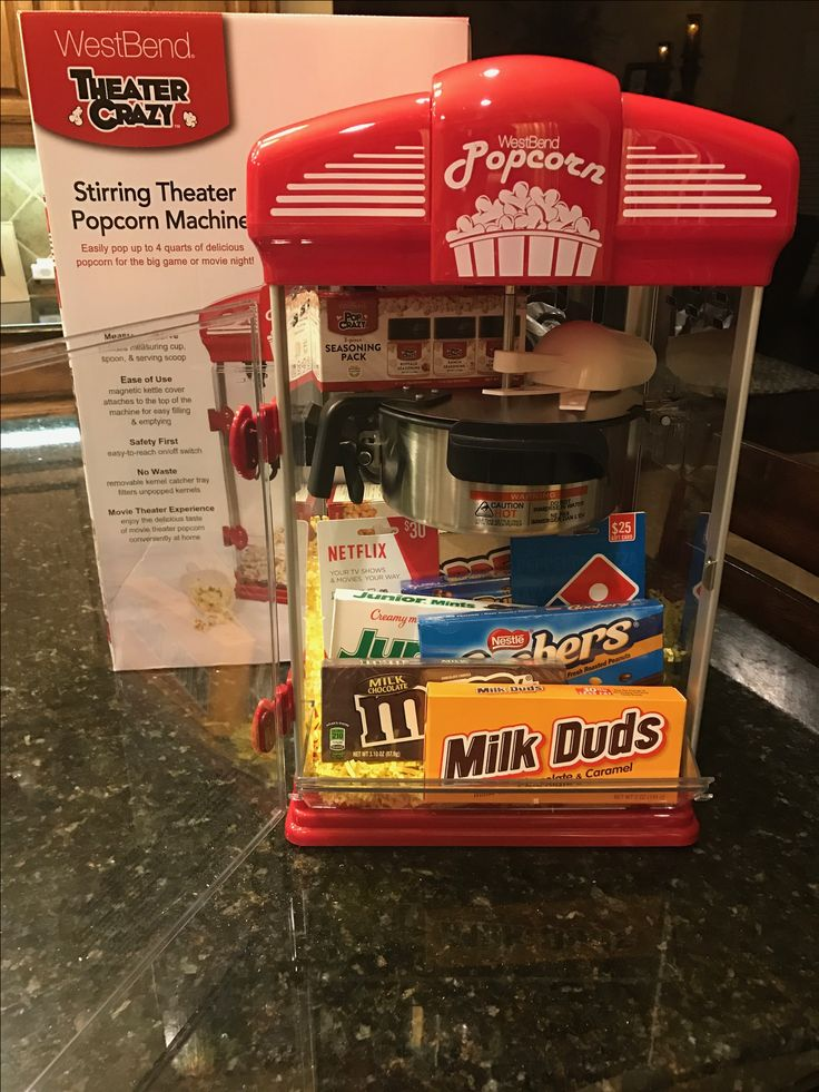 Pre K 4 Movie night basket. Complete with everything you'll need for an awesome movie night at home.